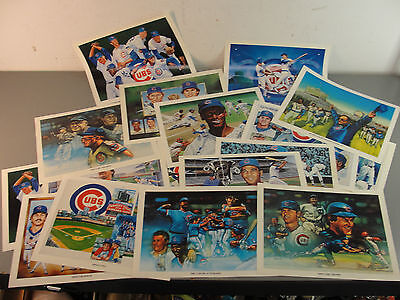 UNOCAL 76 CHICAGO CUBS BASEBALL 11x8.5 COLOR PRINTS LOT 17 WRIGLEY BANKS JENKINS