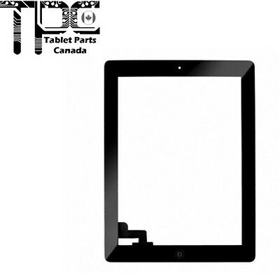 New Apple iPad 2 Black Touch Sreen Digitizer + Home Button + Adhesive