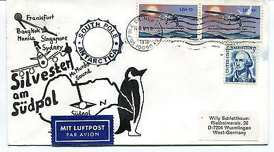 1978 McMurdo Station Silvester South Pole Polar Antarctica Cover
