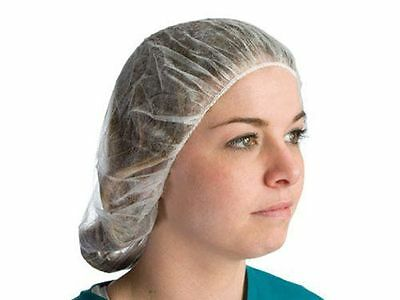 "A1924 Soft Nylon Hairnets Honeycomb Pattern 24"" Diameter White 100/Bag"