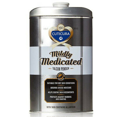 Mildly Medicated Talcum Powder Absorbs Perspiration