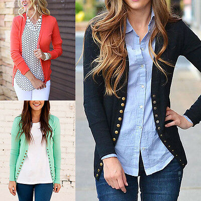 New Fashion Women's Casual Long Sleeve Knit Sweater Outwear Loose Coats Cardigan