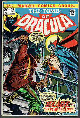 TOMB OF DRACULA  10  VG/4.0  -  First appearance of Blade!
