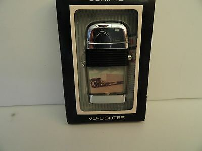 Vintage Scripto Mini  VU Lighter Tractor Trailer with Black Band in Box