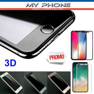 VITRE VERRE trempé 3D IPHONE X, 10 , 8 , 7 , 6 , 6S ,PLUS Film PROTECTION ECRAN
