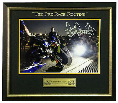 """Valentino Rossi """"The Pre-Race Routine"""" Framed – $699"""