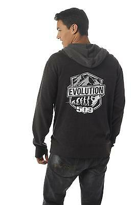 Mens Evolution Zip Hoody -  Black