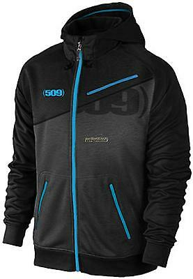 509 Mens Tech Zip Hoodie - Black/Blue