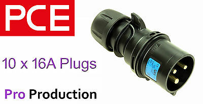 10 x PCE 16A (amp) Midnight (Black) Ceeform Plugs