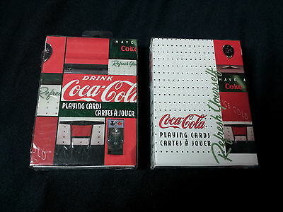 Two Different Sets Of Factory Sealed Coca-Cola Bicycle Brand Playing Cards