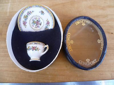 Vintage Old English Coalport China, Saucer & Plate In Box, 'miniature' (E135)