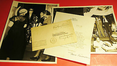 Rare Eleanor Roosevelt Signed Letter 1946 & Photographs African American Echoes