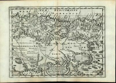 Algeria Barbary Coast Tunisia North Africa Sahara 1669 Sanson old antique map