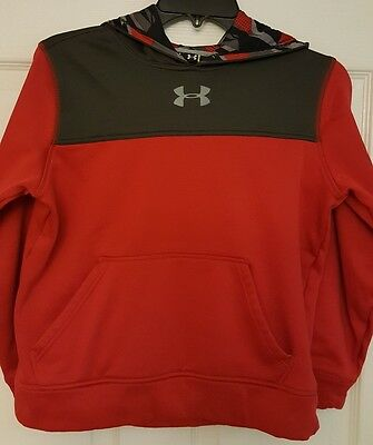 Under Armour Youth Storm Hoodie Size Medium Red/Black/Grey