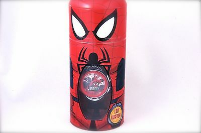 New Spider Man Children LCD Watch with Character cylinder Box