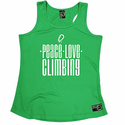 Peace Love Climbing Adrenaline Addict WOMEN DRY FIT VEST singlet rock birthday