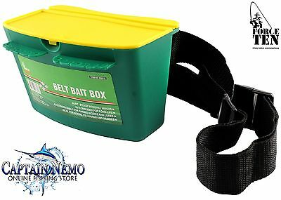 Belt Bait Box With Bonus Belt Fishing Tackle Bait Bucket Force Ten Tackle M8615