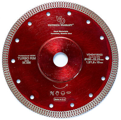VD Turbo Rim Mesh Diamond Saw Blade Porcelain Granite Hard Tile 7 inch Long Life