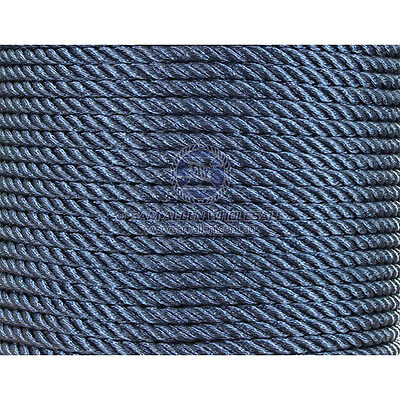 Blue Polyester Rope 3 Strand  16mm x 100 Metre  High Quality Italian Made