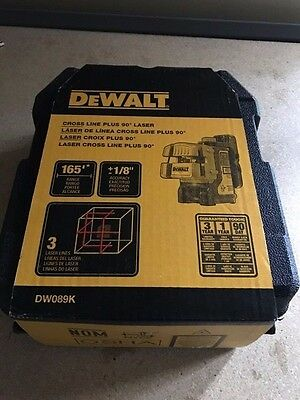 DeWalt 3-Way Self-Levelling Ultra Bright Multi-Line Laser DW089k dw089 DW089k-XJ