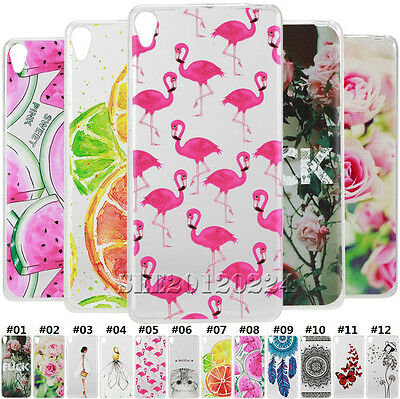 Pattern TPU Silicone Soft Ultra Thin Clear Gel Back Case Cover For Sony Xperia