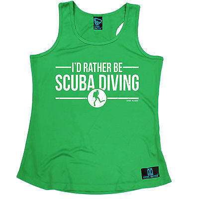 I'd Rather Be Scuba Diving Open Water WOMENS DRY VEST singlet mothers day scuba