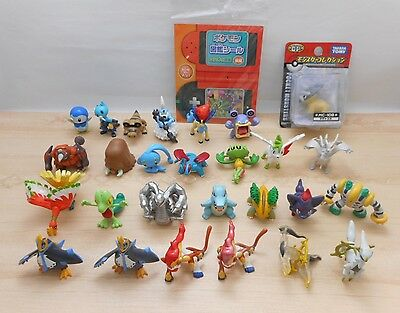 Pokemon Figure Tomy Lot of 27 Monster Collection Set Pearl  Clear Silver