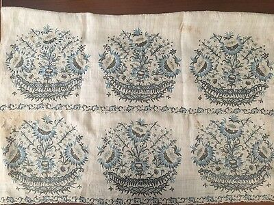 Rare Huge Antique Ottoman-Turkish Silk & Metallic  Hand Embroidered Towel N1
