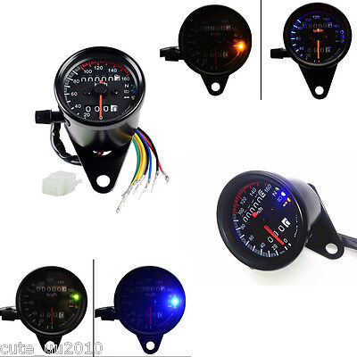 Motorcycle Odometer Speedometer Gauge For Trike,atv,motorcycle,Project Black LED