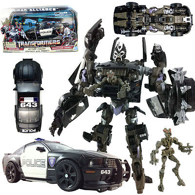 Transformers Human Alliance Barricade & Decepticon Frenzy Rd-24 Robot Car Figure