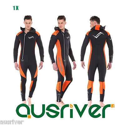 Clearance Men Women 5mm Thick Snorkeling Full Wetsuit Long Sleeve Warm Wet Suit