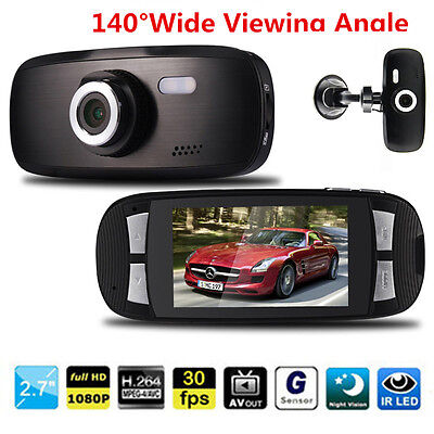 G1W Car DVR Camera Recorder 2.7'' Full HD 1080P Dash Auto Cam Loop G-sensor New