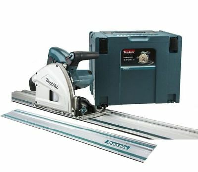 Makita SP6000J1 165mm Plunge Saw 230v with 2 x 1.4m Guide Rail