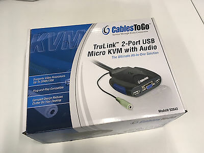 CabelsToGo TruLink 2-Port USB Micro KVM with Audio