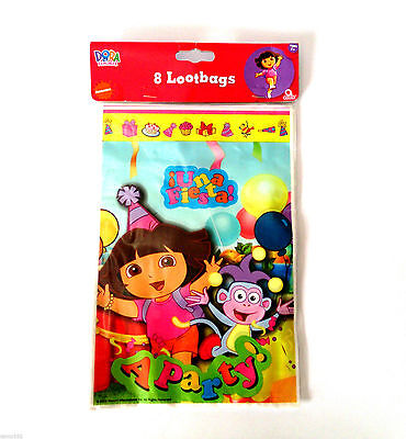 Dora The Explorer Party Lootbags Pack of 8 - New & Sealed
