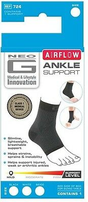 NEO G Airflow Ankle Support (Medium) Medical Grade, Slimline, Lightweight 724