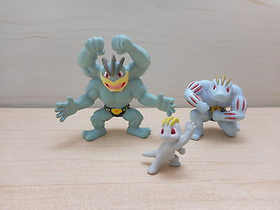 Pokemon Machoke Machamp Machop Zukan Figure Set of 3 Rare