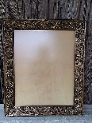 Vintage Gold Ornate Wood Picture Frame 16 X 20 Victorian Feathered Gesso Gilt
