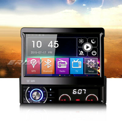 Detachable 1Din Car DVD Player Anti-theft GPS Radio USB SD BT RDS DTV-IN Stereo