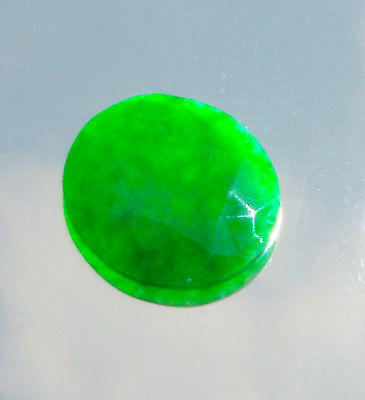 1 Burmese Jadeite Type A Green Cabochon approx 13x13x1.5 mm/1.5 carats UNTREATED