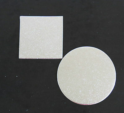 14 inch Cardboard Cake Board  Round / Square Silver  Thickness 2mm