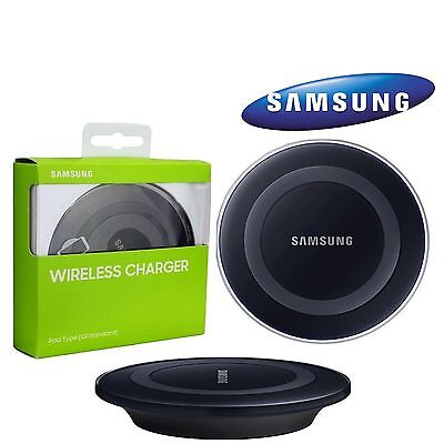 Samsung Galaxy S6, S6 Edge QI Wireless Charger Charging Pad Plate-Black