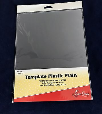 Sew Easy Template Plastic Plain Textured  Non Slip Easy Cut - Make Your Own