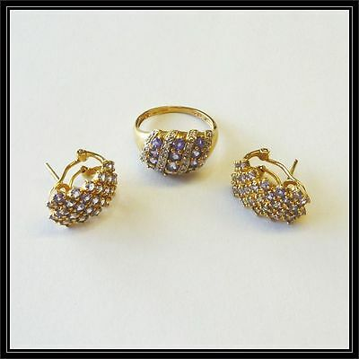 9Ct Gold Ring And Earring Set