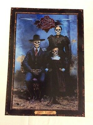 Dead Family Aluminum Poster By Stanley Mouse 1998(Measures 16 3/4 by 11 3/4)Good