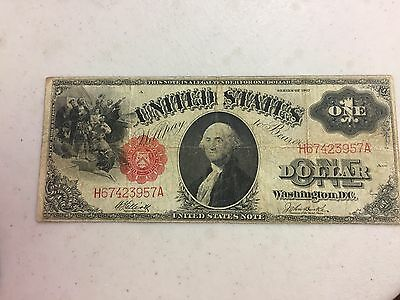 Series 1917 $1 United States Large Note