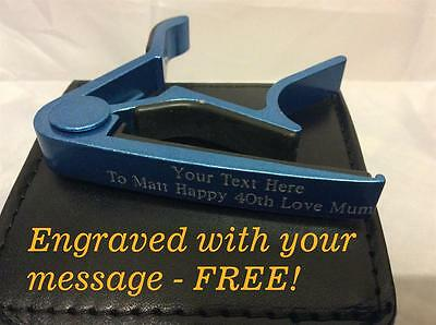 Guitar Capo - Multiple Colours - FREE ENGRAVING - PERSONALISED - Fathers Day