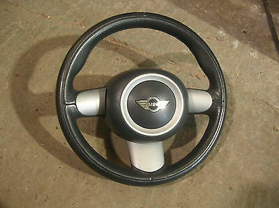 Mini R50 / R52 / R53 3 spoke leather steering wheel, with airbag