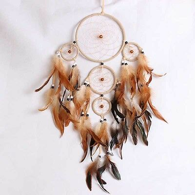 Creative Handmade Dream Catcher with Feathers DIY Hanging Ornament Craft Gift