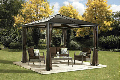 6mm Polycarbonate Roof Gazebo Sojag Sumatra , Steel Structure - 10x10 Promo